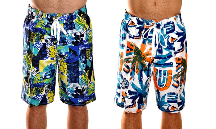Men's Fashion Swim Trunks (2-Pack)