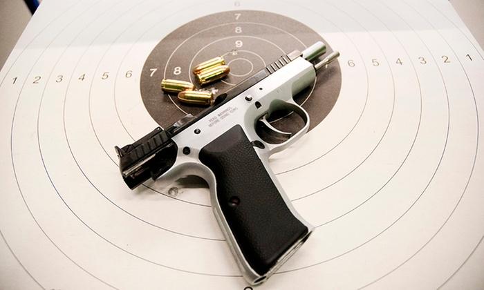 Godzinne wejście na strzelnicę z instruktorem, wynajęciem broni od 29,90 zł i więcej w Centrum Strzeleckim AGVO