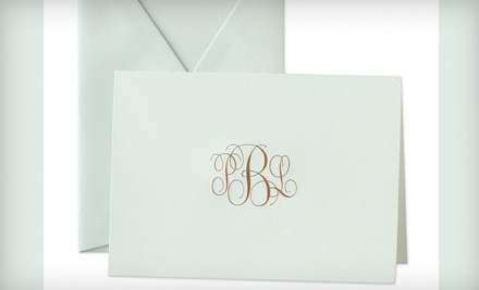 $100 Groupon for Personalized Stationery from Crane & Co. - Crane & Co. in BeverlyHills