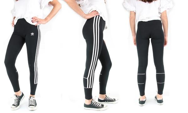 Leggings de sport noirs pour femmes Adidas