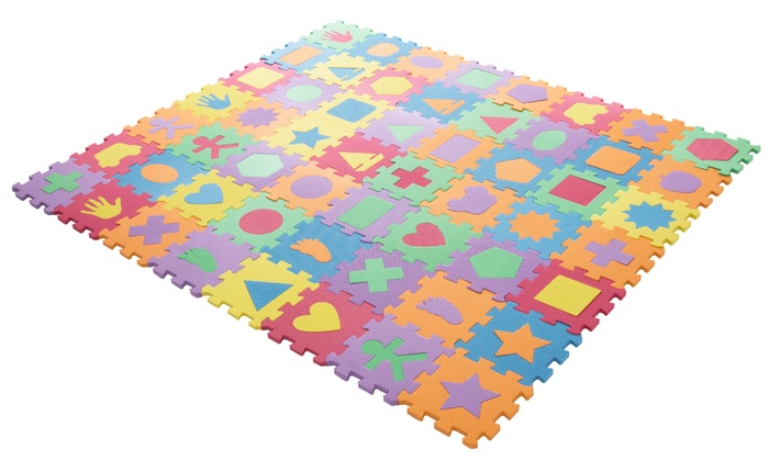 Hey Play Foam Shapes Puzzle Learning Mat 56 Piece