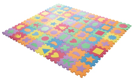 Hey! Play! Foam Shapes Puzzle Learning Mat (56-Piece)