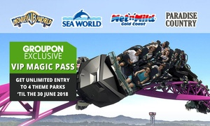 Village Roadshow Theme Parks: $169 for Unlimited Entry to Warner Bros. Movie World, Sea World, Wet'n'Wild Gold Coast + Paradise Country