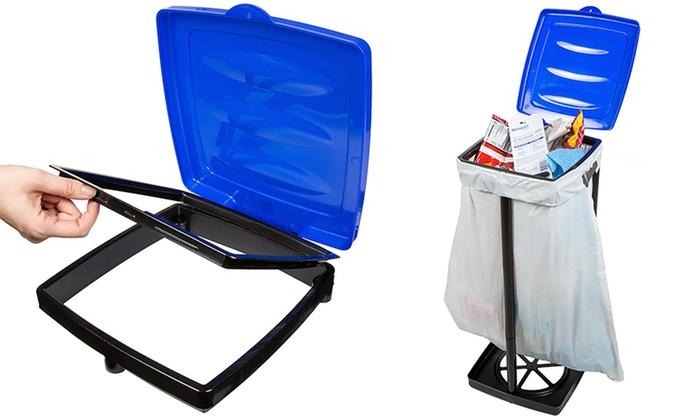 up to 43 off on portable trash bag holder livingsocial shop. Black Bedroom Furniture Sets. Home Design Ideas