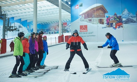 One or Six 120Minute Adult Skiing or Snowboarding Lessons at The Snow Centre Hemel Hempstead