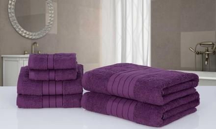 6er-Set Handtücher aus 100% Baumwolle in der Farbe nach Wahl