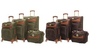 Caribbean Joe Castaway Spinner Suitcase Luggage Set (4-Piece)