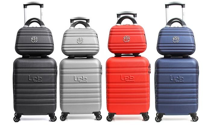 d9d218ebc0f3 Trolley Bag and Vanity Case Set | Groupon Goods