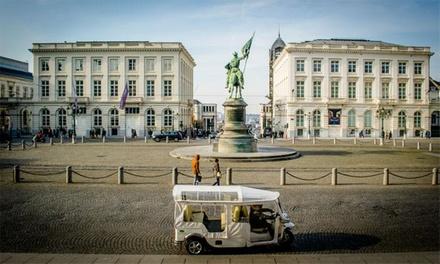 Visitez Bruxelles en amoureux ou entre amis à bord d'un Tuk Tuk dès 34 € grâce à Tuk Tuk Tourism