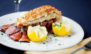 Aja Restaurant: Five-Course Lobster Tail Seafood Banquet for Two ($105) or Four People ($200) at Aja Restaurant (Up to $372 Value)