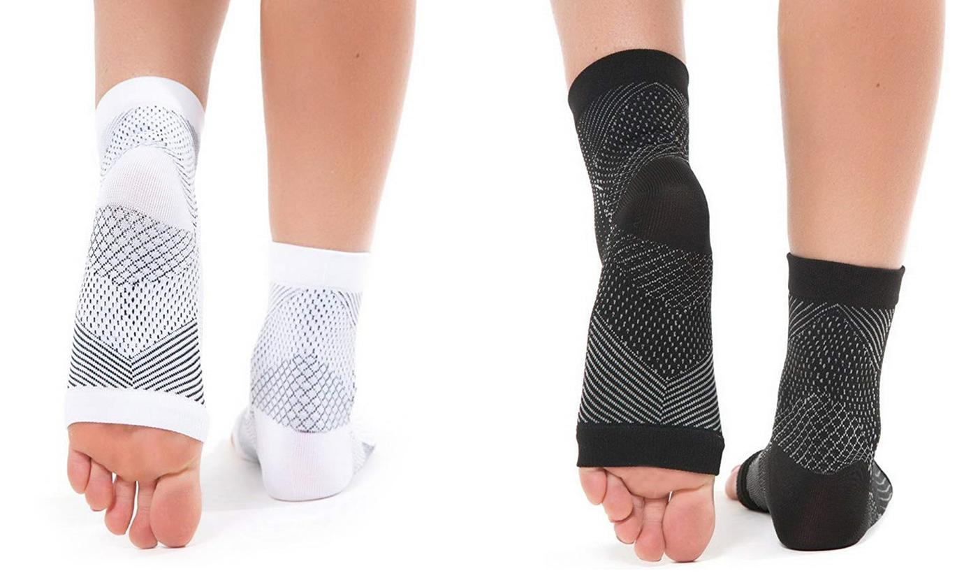 Up to Four Pairs of Heel Compression Sleeve Socks