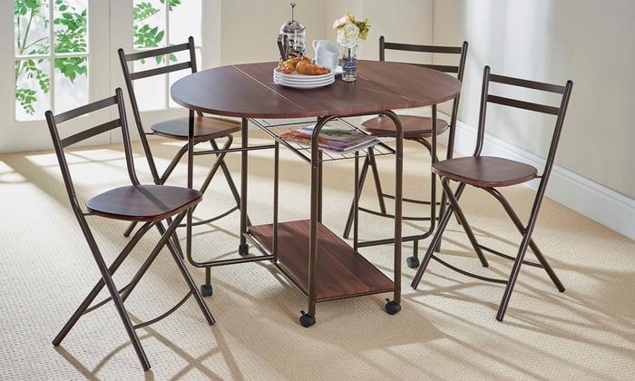 Tuin Dining Sets : Stowaway dining set groupon goods