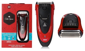 Old Spice Men's Wet and Dry Electric Foil Shaver and Razor