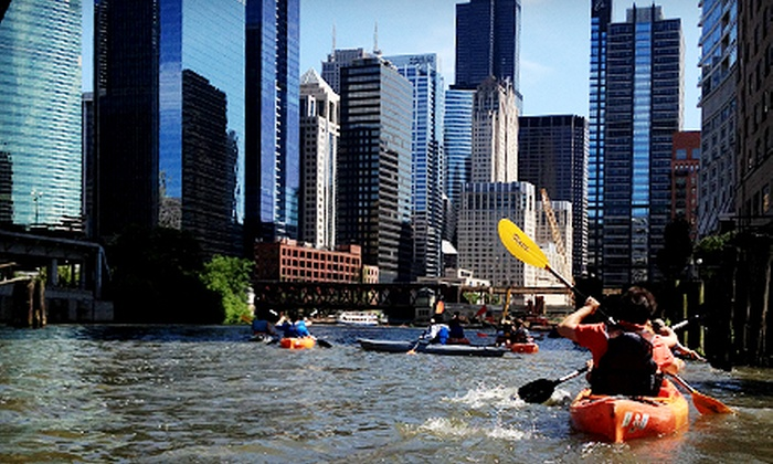 Wateriders - Riverwalk: Classic Architecture/Historical Kayak Tour or Shady Chicago Kayak Tour for Two or Four from Wateriders (Half Off)