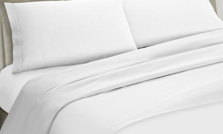 Set de ropa de cama de microfibra con bajera, sábana y funda de almohada