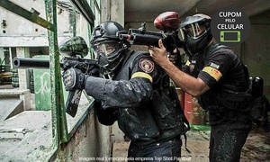 Top Shot Paintball: Top Shot Paintball – Riachuelo: 2 horas de paintball e bolinhas para 1, 2, 6, 10 ou 20 pessoas