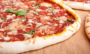 Pizza 57: Large Cheese Pizza Meal for Two with wine or beer at Pizza 57 (Up to 50% Off). Two Options Available.