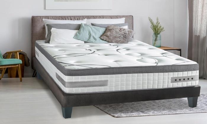 jusqu 39 82 matelas fran ais m moire forme 26cm groupon. Black Bedroom Furniture Sets. Home Design Ideas