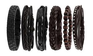 Set de 6 bracelets tressés homme