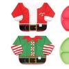 Bumkins Holiday Sleeved Bib and Grip Dish Set