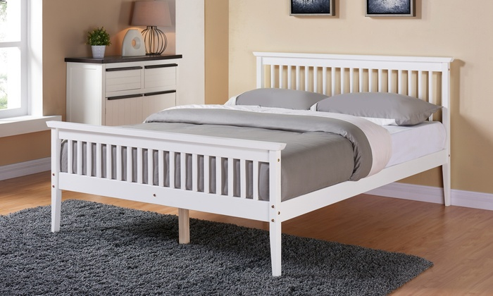 Solid Wood Shaker Pine Bed Frame from £115 (60% OFF)