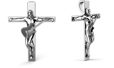Croix du rockeur éternel de la marque Tous Mes Bijoux en argent ou en or et diamant