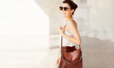 Set of Two Leather Hobo Bags