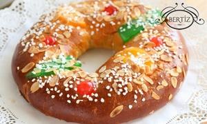 Bertiz: 1, 2 o 4 roscones de Reyes artesanales con o sin relleno desde 4,95 € en Bertiz