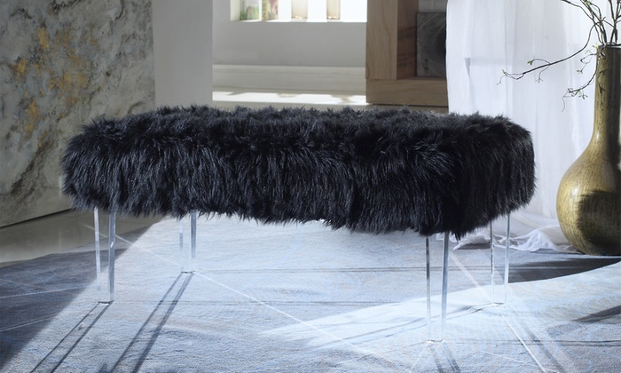 Chic Home Faux Fur Bench Groupon Goods
