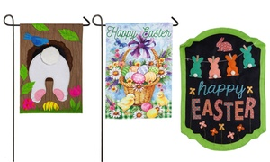 Easter-Themed Garden Flag