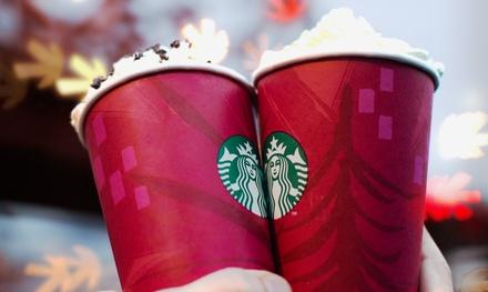 Starbucks – $5 for $10 Starbucks Card eGift