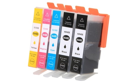 Set of Five Cartridges for HP Photosmart Printers