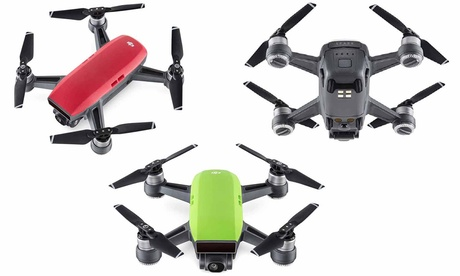 DJI Spark Fly More Combo Drone with Gimbal-Mounted 1080p Full HD Camera