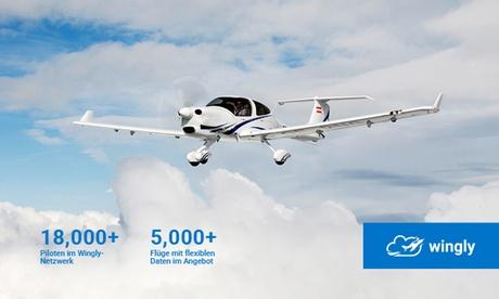 Rundflug mit dem Privatflugzeug über Berlin, Hamburg, München und andere Städte mit Wingly