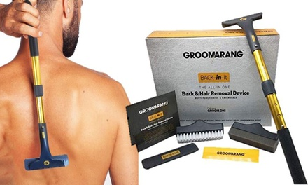 Groomerang Back in It Back and Body-Shaving Device and Replacement Blades