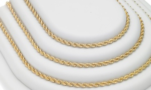 English Rope-Chain Necklace in 14K Gold-Plated Brass at English Rope-Chain Necklace in 14K Gold-Plated Brass, plus 6.0% Cash Back from Ebates.