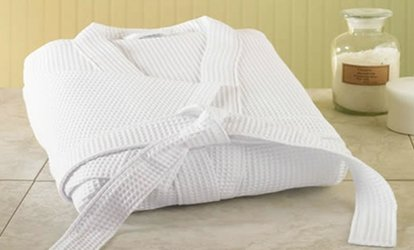 Waffle Cotton or Bamboo Robe at Topline Selections