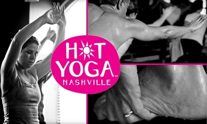 Hot Yoga Nashville - Nashville-Davidson metropolitan government (balance): $19 for One Hot Yoga Class for Two People at Hot Yoga Nashville ($40 Value)