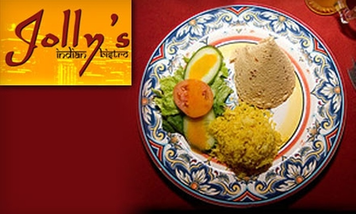 Jolly's Indian Bistro - Kitsilano: $15 for $30 Worth of Indian Cuisine and Drinks at Jolly's Indian Bistro