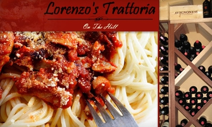 Lorenzo's Trattoria - The Hill: $15 for $35 Worth of Contemporary Italian Cuisine and Drinks at Lorenzo's Trattoria