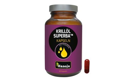 60 Kapseln Hanoju Superba Krill-Öl 500 mg
