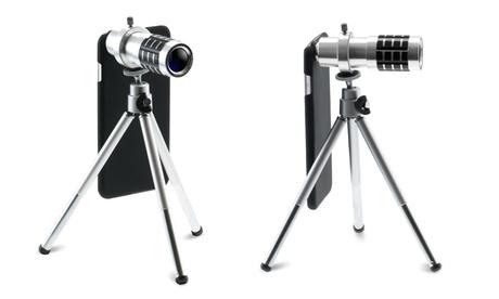 Teleobiettivo Sinji 12x con treppiede disponibile per vari modelli di iPhone e...