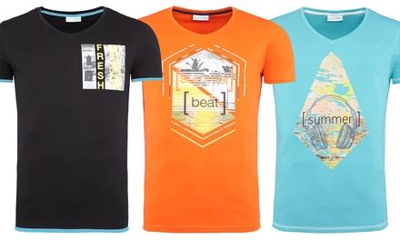Bedrukte Tshirts voor mannen Summer Fresh verkrijgbaar in model Florida, Brasil of Floris