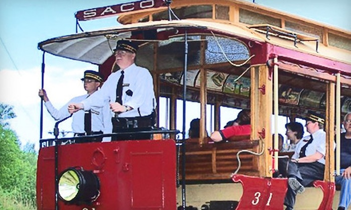 Seashore Trolley Museum - Kennebunkport: Pumpkin Patch Trolley Outing or Railway Museum Outing for Two, Four, or Ten at Seashore Trolley Museum