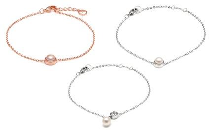 1 o 2 pulseras con perlas de agua dulce y cristal de Swarovski®