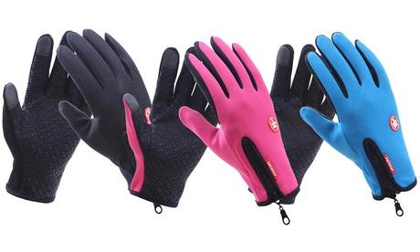 Lot de 1 à 3 gants tactiles imperméables et coupe vent pour homme et femme