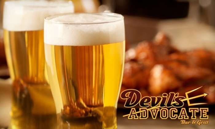 Devil's Advocate Bar and Grill - Tempe: $10 for $20 Worth of Bar Fare and Drinks at Devil's Advocate Bar and Grill in Tempe