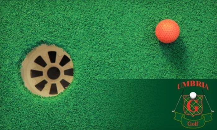 Umbria Golf Center - Roxborough: $10 for Four Buckets of Balls or Four Games of Miniature Golf at Umbria Golf Center ($20 Value)