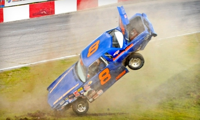 Raceway Park - Shakopee: $15 for Two Tickets Plus Popcorn (Up to $33 Value) or $80 for an Eight-Lap Track-Car Racing Experience (Up to $165 Value) at Raceway Park