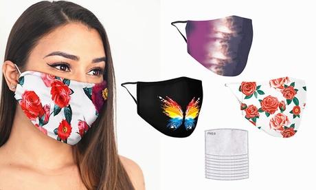 Groupon DE 3er-Set wiederverwendbare Gesichtsmasken, optional mit 10 Filtern, inkl. Versand